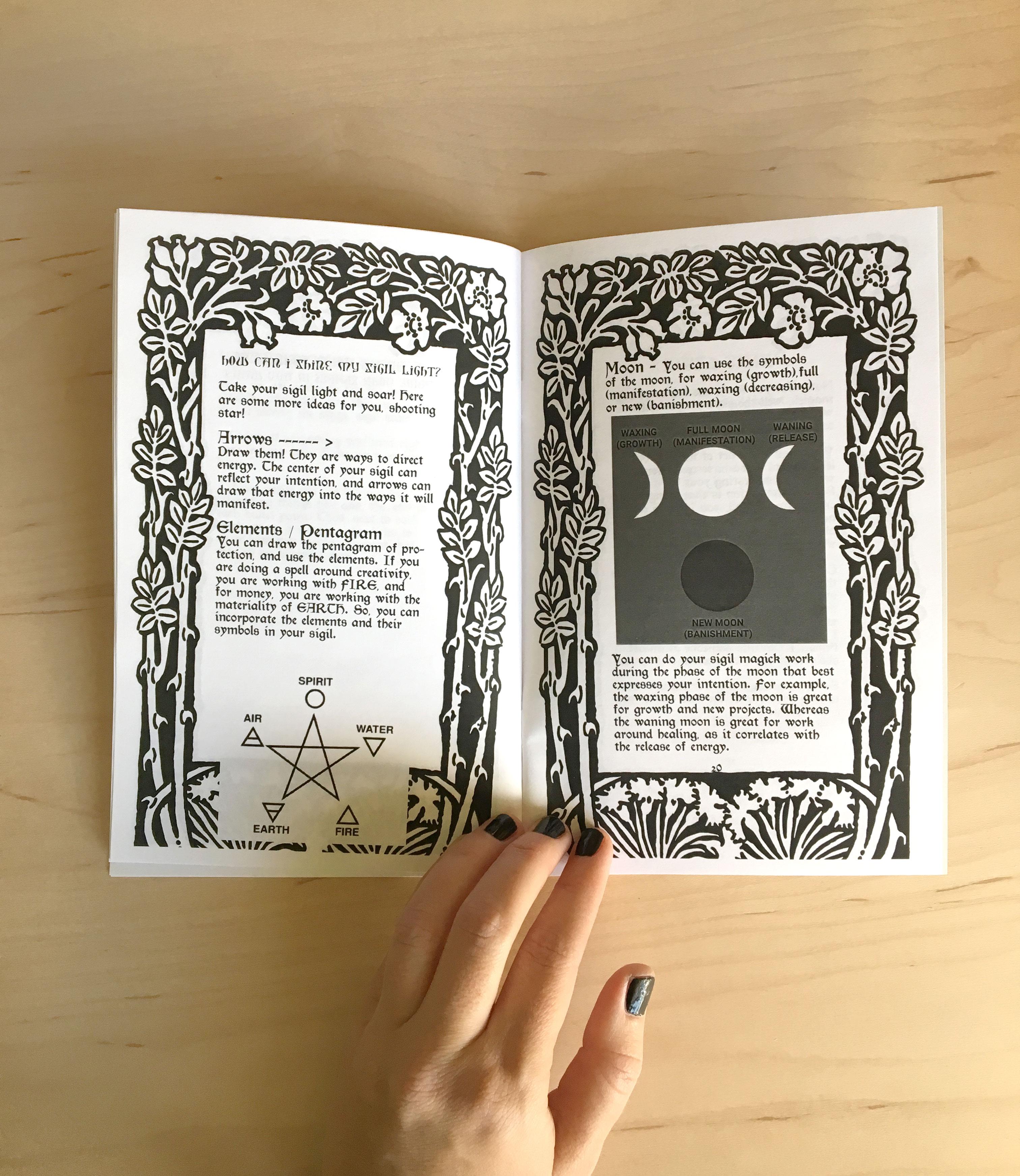 Sigil Magick Zine Workbook Rebecca Schoenecker